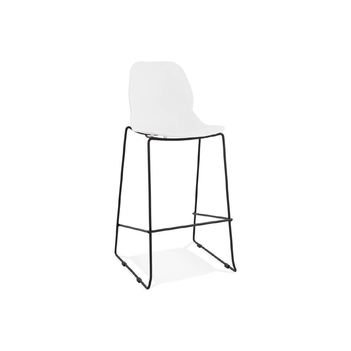 Tabouret de bar chaise de bar industriel empilable JULIETTE (blanc) - AMP  Story 7