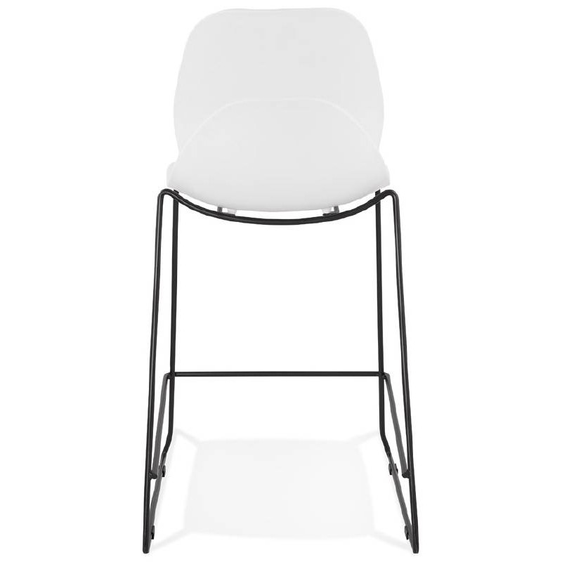 Tabouret de bar chaise de bar industriel mi-hauteur empilable JULIETTE MINI (blanc) - image 37609