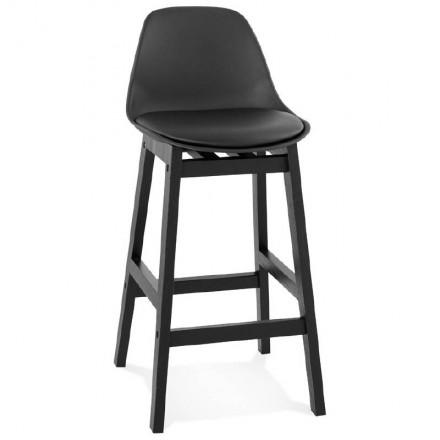 Tabouret de bar chaise de bar mi-hauteur design JACK MINI (noir)