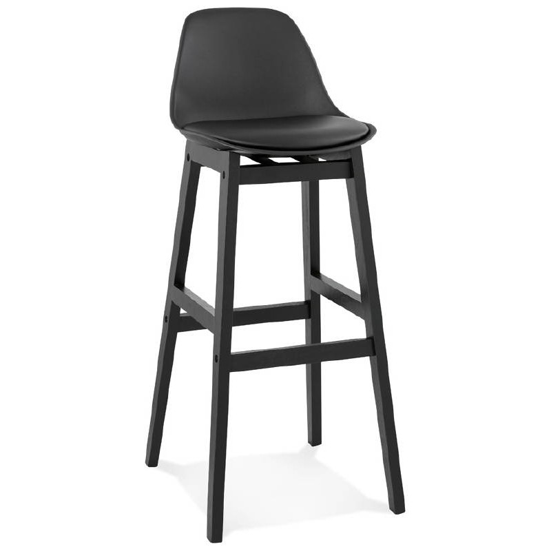 tabouret de bar chaise de bar design jack noir. Black Bedroom Furniture Sets. Home Design Ideas