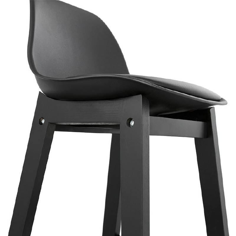 Tabouret de bar chaise de bar design JACK (noir) - image 37638