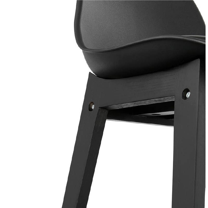 Tabouret de bar chaise de bar design JACK (noir) - image 37639