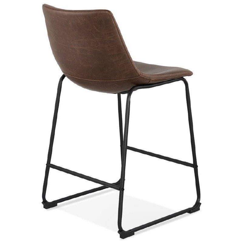 Tabouret De Bar Chaise Mi Hauteur Vintage JOE MINI Marron