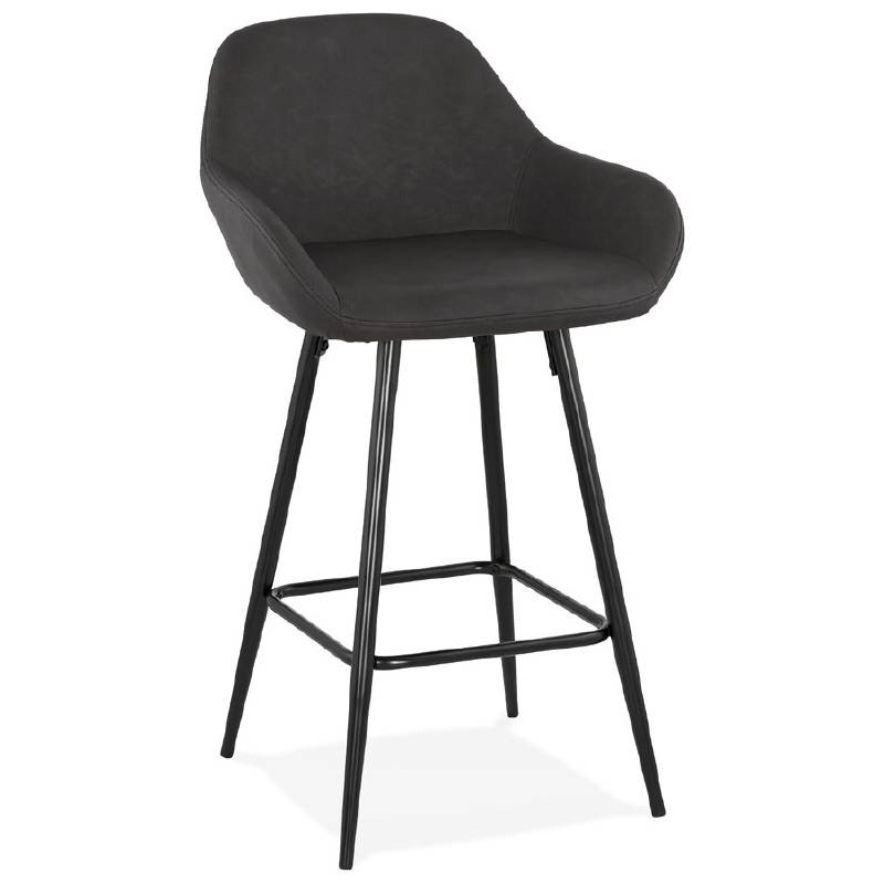 Tabouret De Bar Chaise De Bar Mi Hauteur Design Joseph Mini Gris Foncé