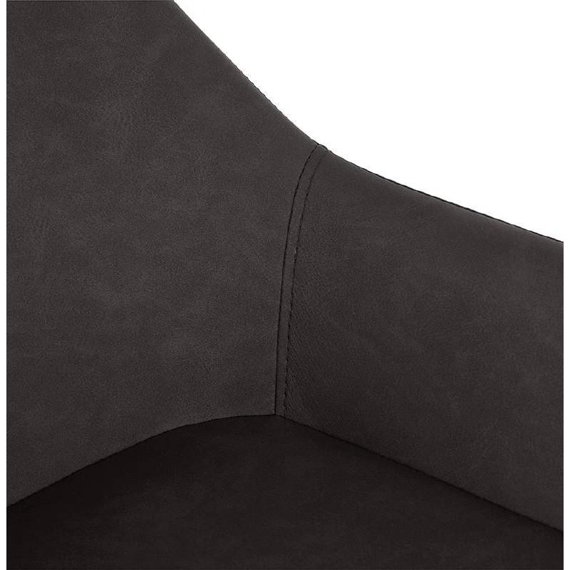 Sedia bar Sgabello da bar design metà altezza JOSEPH MINI (grigio scuro) - image 37671