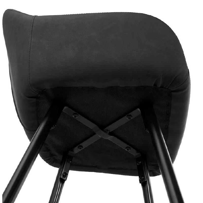 Sedia bar Sgabello da bar design metà altezza JOSEPH MINI (grigio scuro) - image 37673