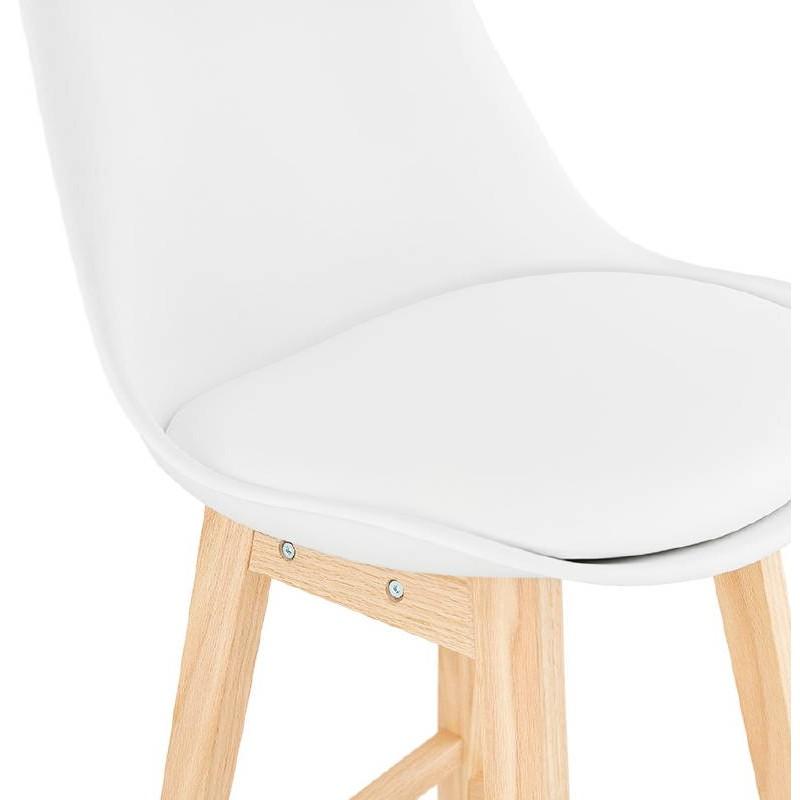 Tabouret de bar chaise de bar design scandinave DYLAN (blanc) - image 37684