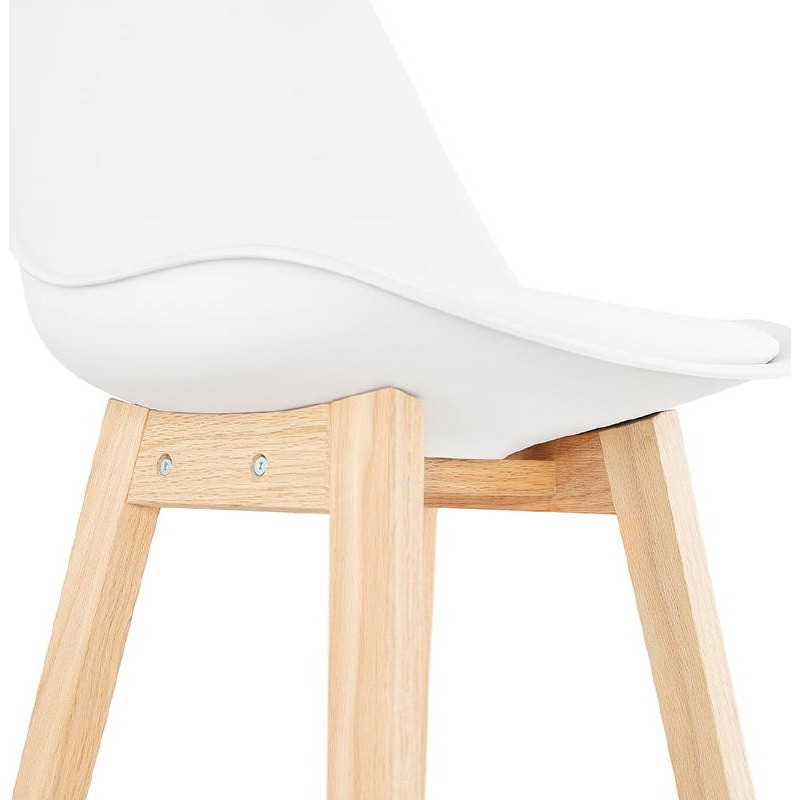 Tabouret de bar chaise de bar design scandinave DYLAN (blanc) - image 37686