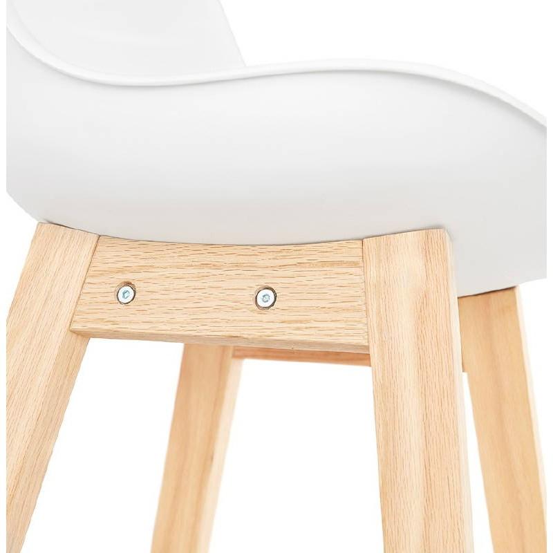 Tabouret de bar chaise de bar design scandinave DYLAN (blanc) - image 37687