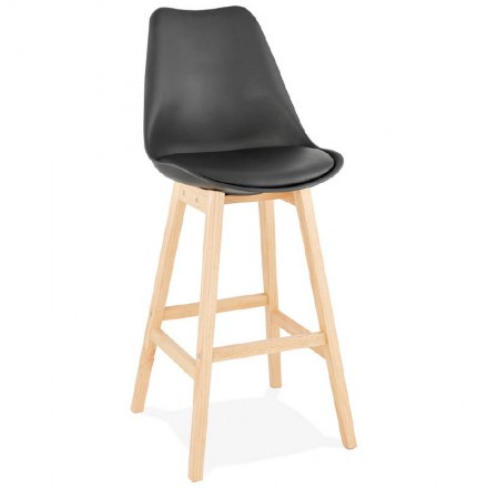 Scandinavian design bar DYLAN Chair bar stool (black)