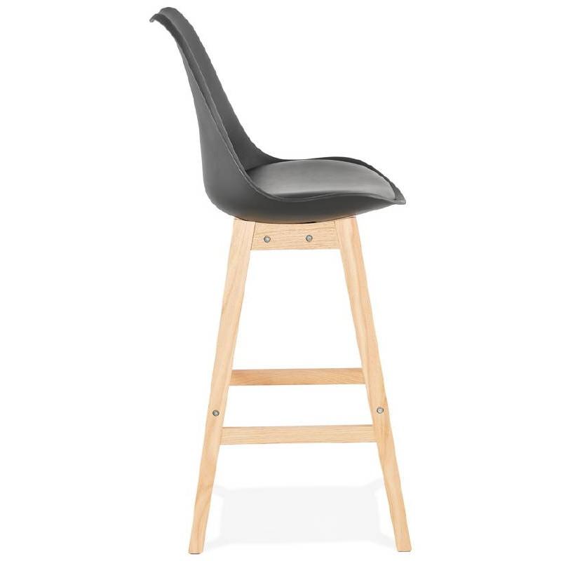 Tabouret de bar chaise de bar design scandinave DYLAN (noir) - image 37697