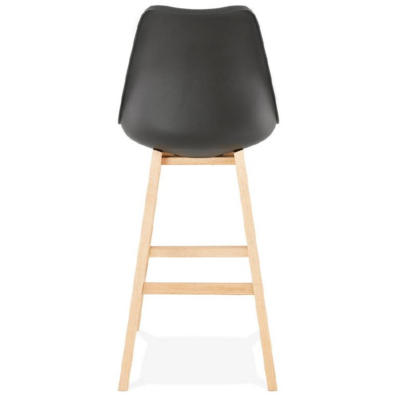 Tabouret de bar chaise de bar design scandinave DYLAN (noir) - image 37699