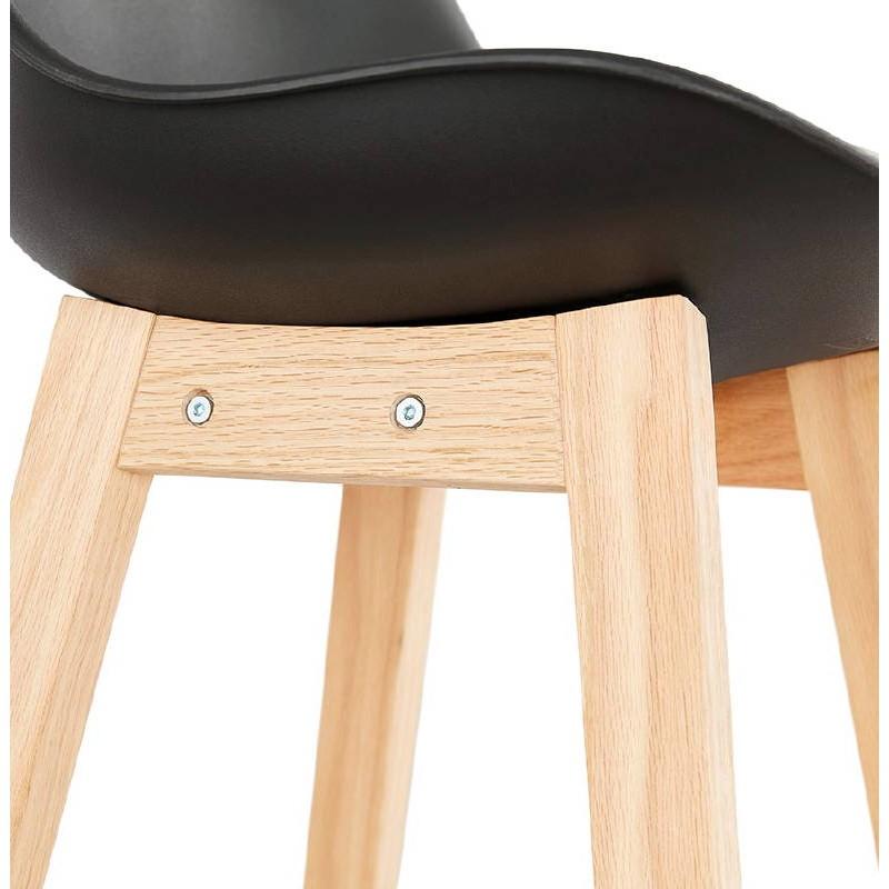 tabouret de bar chaise de bar design scandinave dylan noir. Black Bedroom Furniture Sets. Home Design Ideas
