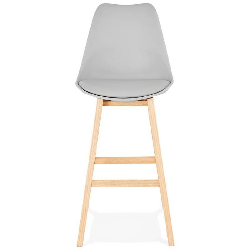 Tabouret de bar chaise de bar design scandinave DYLAN (gris clair) - image 37713