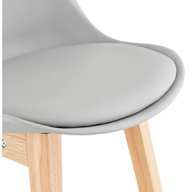 Tabouret de bar chaise de bar design scandinave DYLAN (gris clair) - image 37718
