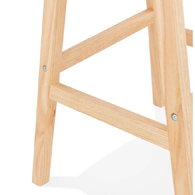 Tabouret de bar chaise de bar design scandinave DYLAN (gris clair) - image 37722