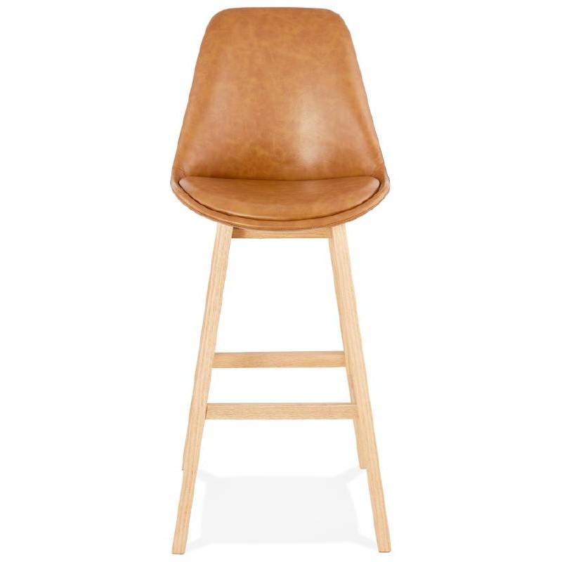 Tabouret de bar chaise de bar design DAIVY (marron clair) - image 37724