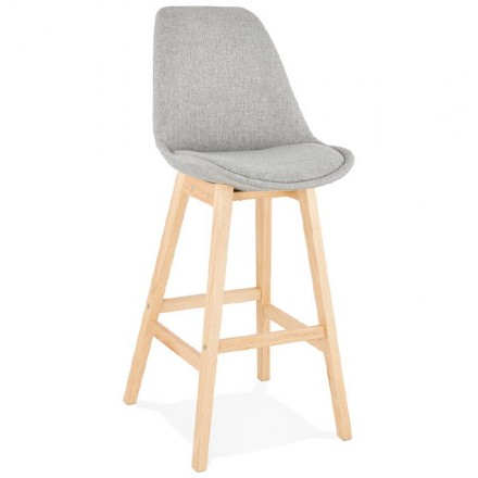 Bar stool Chair of Scandinavian design bar ILDA in fabric (light gray)
