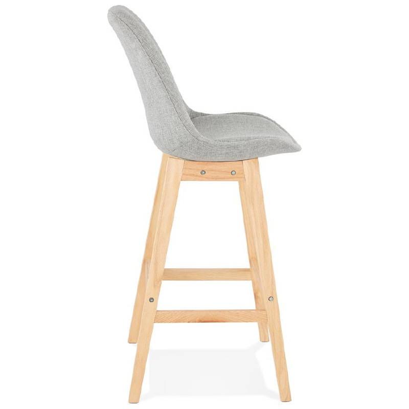 Tabouret de bar chaise de bar design scandinave ILDA en tissu (gris clair) - image 37737