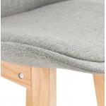 Tabouret de bar chaise de bar design scandinave ILDA en tissu (gris clair)