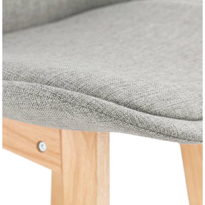 Tabouret de bar chaise de bar design scandinave ILDA en tissu (gris clair) - image 37742