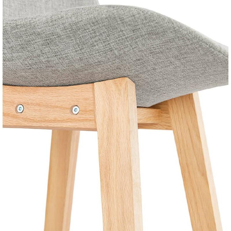 Tabouret de bar chaise de bar design scandinave ILDA en tissu (gris clair) - image 37744