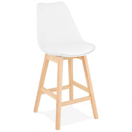 Bar Scandinavian Design Mid Height DYLAN MINI White Chair Stool