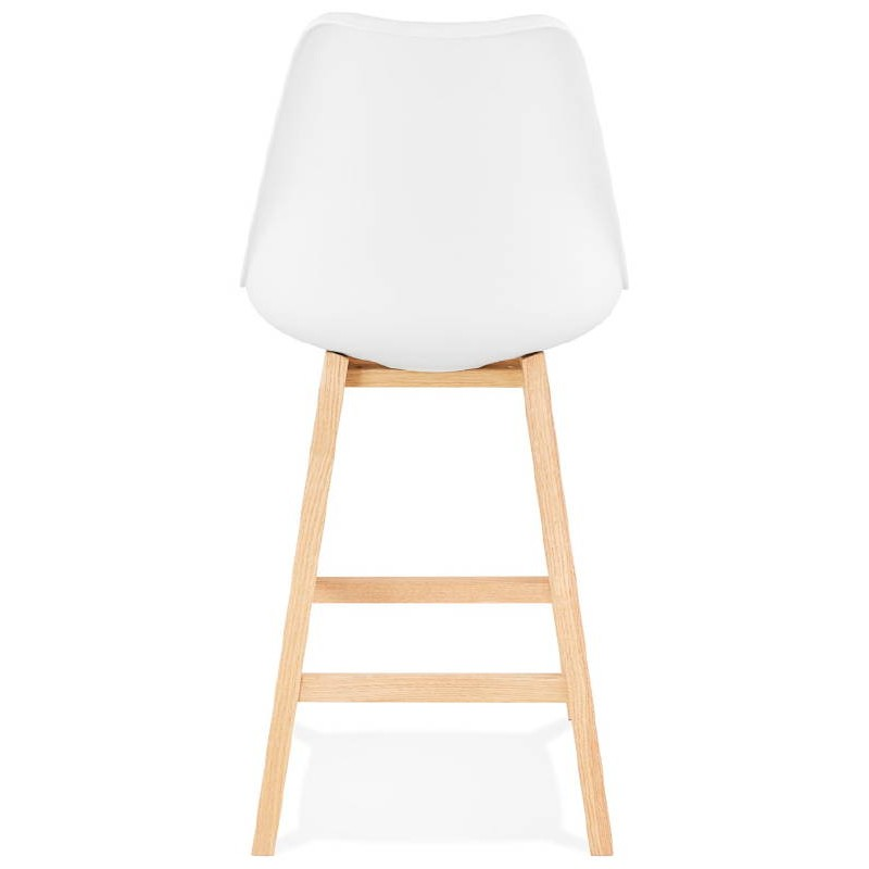 tabouret de bar chaise de bar mi hauteur design scandinave dylan mini blanc. Black Bedroom Furniture Sets. Home Design Ideas