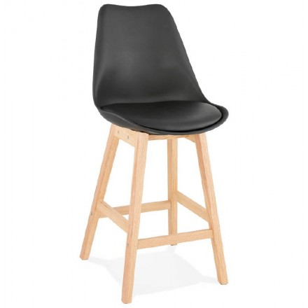 Bar bar Scandinavian design mid-height DYLAN MINI (black) chair stool