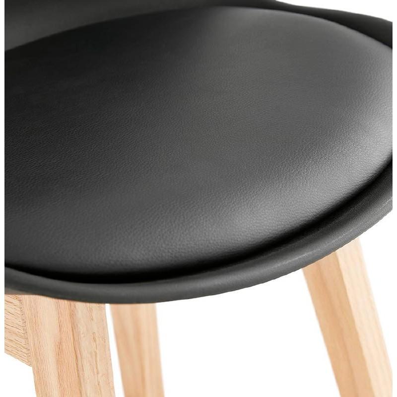 Bar Sessel Barhocker Skandinavisches Design Halbhoher DYLAN MINI (schwarz)