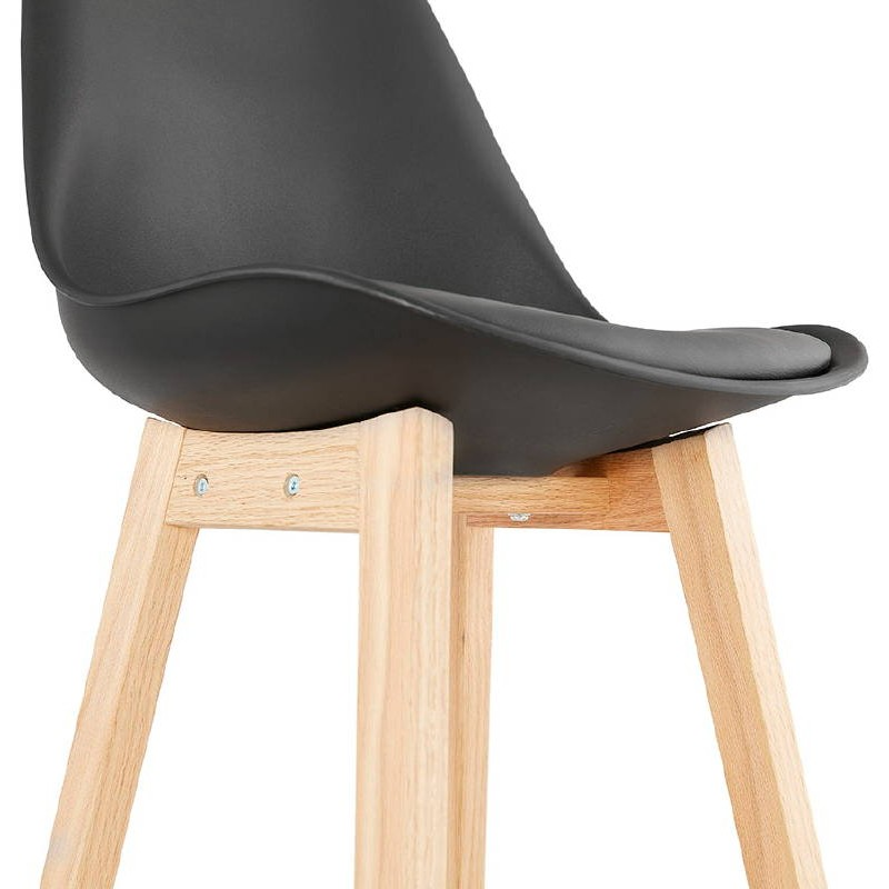 tabouret de bar chaise de bar mi hauteur design scandinave dylan mini noir. Black Bedroom Furniture Sets. Home Design Ideas