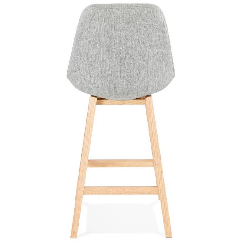 tabouret de bar chaise de bar mi hauteur design scandinave ilda mini en tissu gris clair. Black Bedroom Furniture Sets. Home Design Ideas