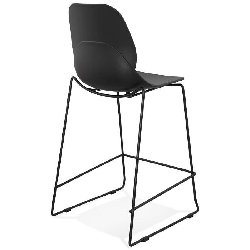 Tabouret de bar chaise de bar industriel mi-hauteur empilable JULIETTE MINI (noir) - image 37828
