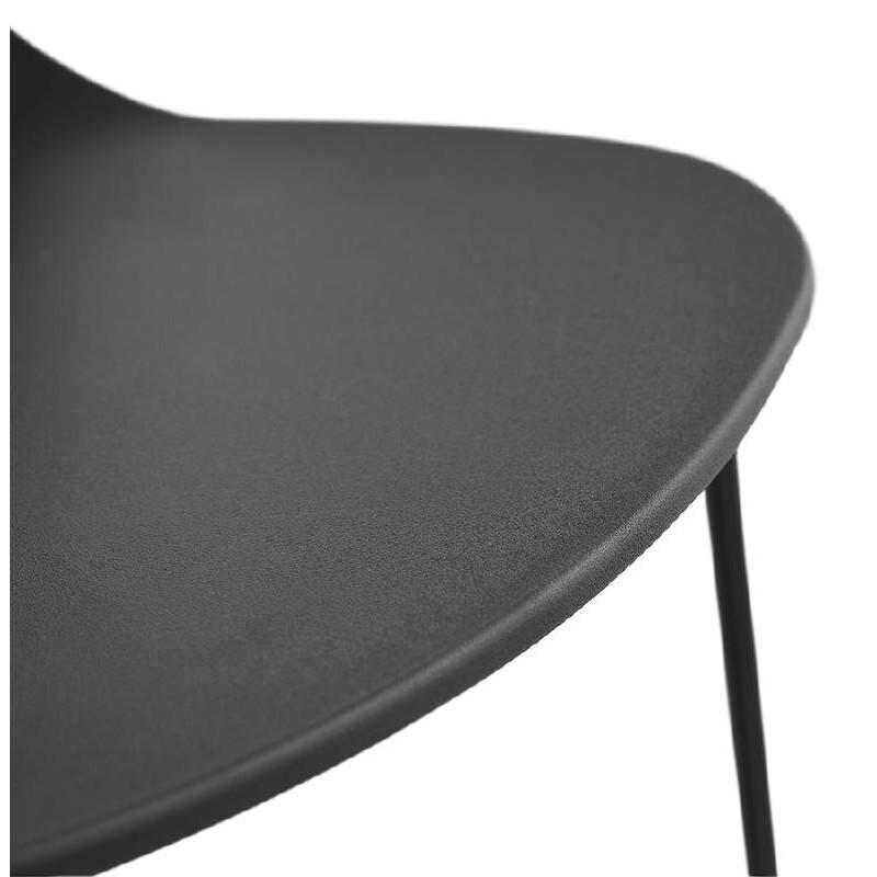 Tabouret de bar chaise de bar industriel mi-hauteur empilable JULIETTE MINI (noir) - image 37832