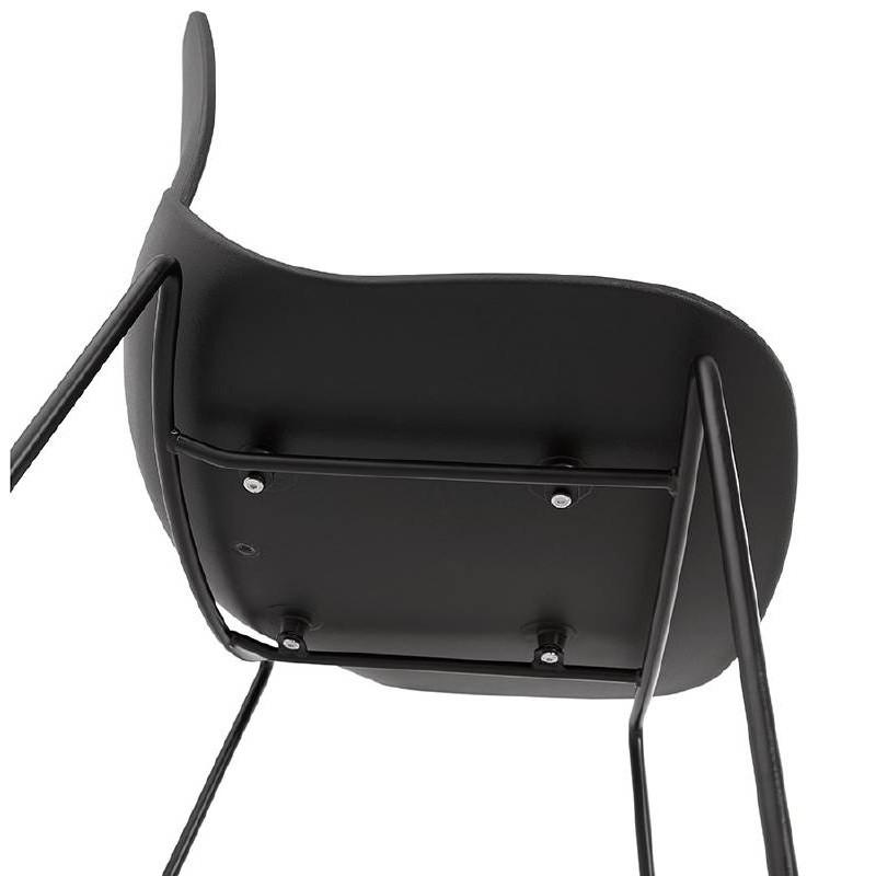 Tabouret de bar chaise de bar industriel mi-hauteur empilable JULIETTE MINI (noir) - image 37835