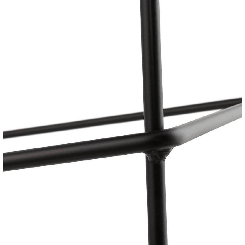Tabouret de bar chaise de bar industriel mi-hauteur empilable JULIETTE MINI (noir) - image 37837
