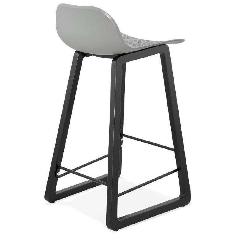 Tabouret de bar chaise de bar mi-hauteur design OBELINE MINI (gris clair) - image 37856