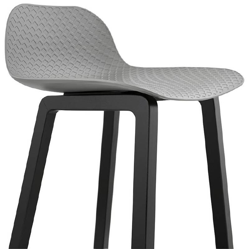 tabouret de bar chaise de bar mi hauteur design obeline mini gris clair. Black Bedroom Furniture Sets. Home Design Ideas