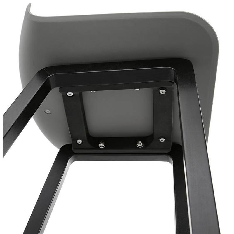Tabouret de bar chaise de bar mi-hauteur design OBELINE MINI (gris clair) - image 37860