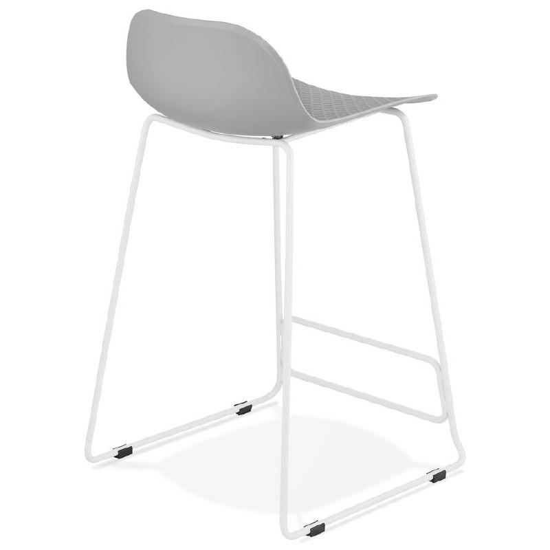 Hocker Barhocker Design halbhoher Ulysses MINI Füße Weißmetall (