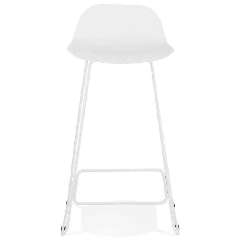Tabouret de bar chaise de bar design ULYSSE pieds métal blanc (blanc) - image 37929