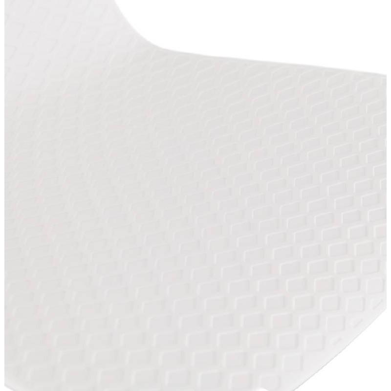 Tabouret de bar chaise de bar design ULYSSE pieds métal blanc (blanc) - image 37934