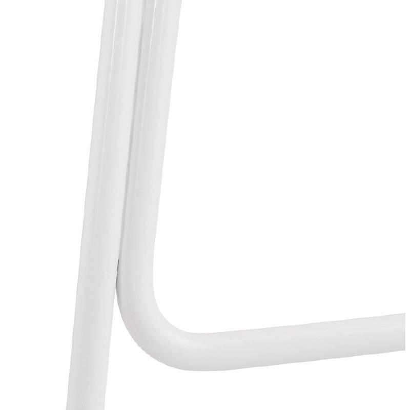 Tabouret de bar chaise de bar design ULYSSE pieds métal blanc (blanc) - image 37940