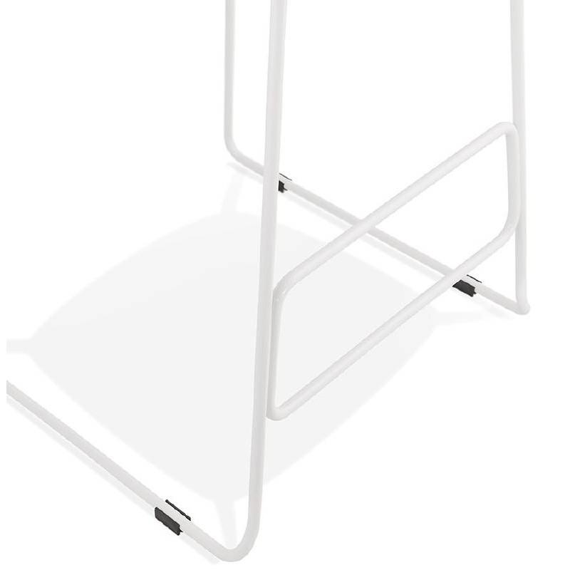 Tabouret de bar chaise de bar design ULYSSE pieds métal blanc (bleu ciel) - image 37978