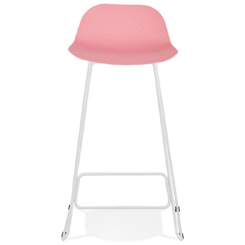 Bar-Hocker Barhocker Design Ulysses Füße Weißmetall (rosa Pulver) - image 37982