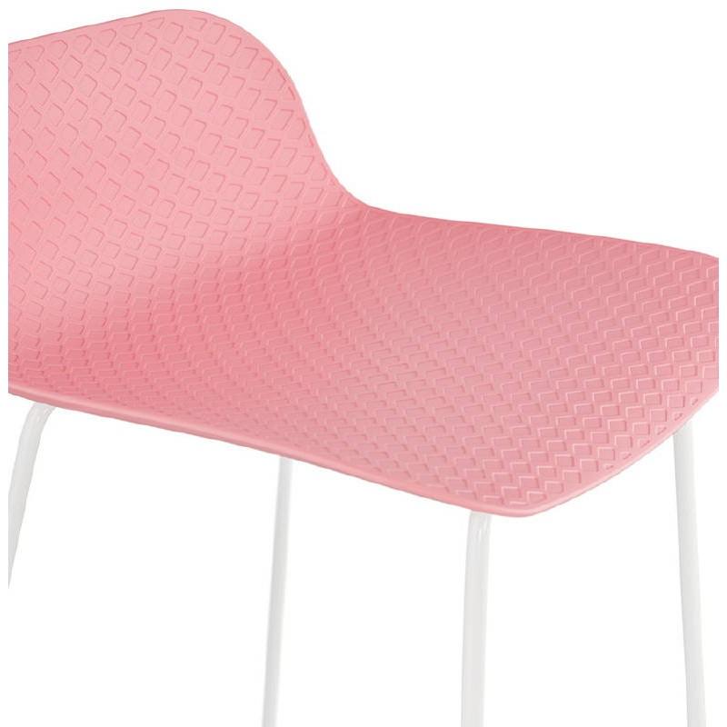 Bar-Hocker Barhocker Design Ulysses Füße Weißmetall (rosa Pulver) - image 37987