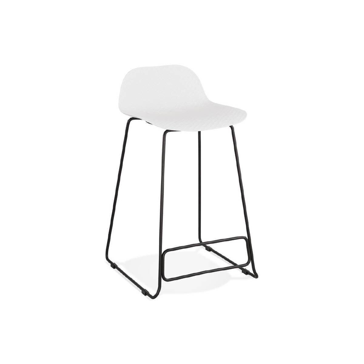 Bar Stool Design Mid Height Ulysses Mini Feet White Black Metal Bar Chair Amp Story 5623