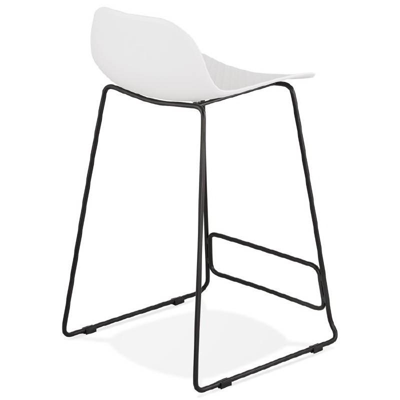 Bar Sgabello design metà altezza Ulysses MINI piedi (bianco) neri ...