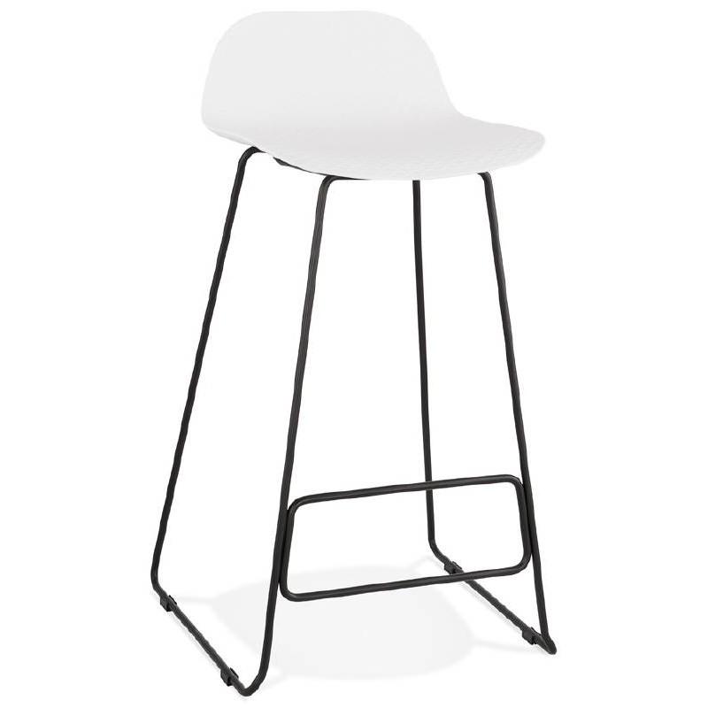 Bar bar design Ulysses (bianche) gambe in metallo nero sedia sgabello