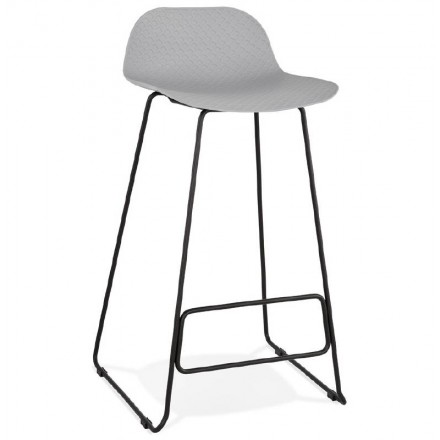Bar stool barstool design Ulysses feet black metal (light gray)